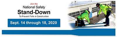 National Safety Stand-down to Prevent Falls in Construction, 2020