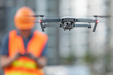 A drone flown during a building inspection.